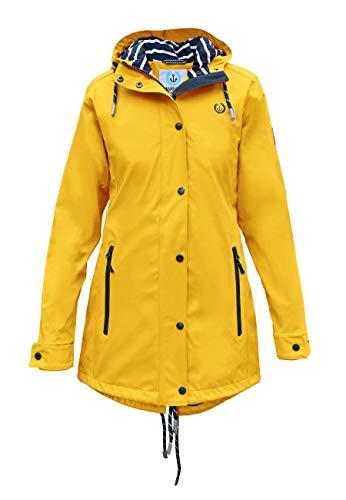 MADSea Damen Regenmantel Friesennerz gelb wasserdicht, Farbe:gelb, Größe:36