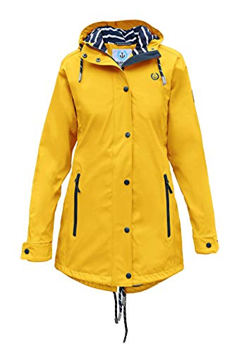 MADSea Damen Regenmantel Friesennerz gelb wasserdicht, Farbe:gelb, Größe:52