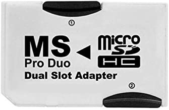1PCS Micro SD SDHC TF Card to Memory Stick MS Pro Duo Dual Solt Adapter Converter For SONY PSP 1000 2000 3000 Sony Digital Products CR-5400