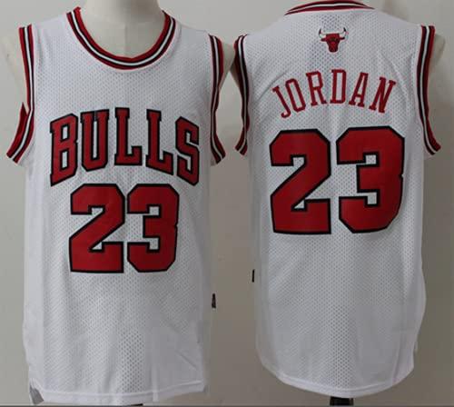XHDH NBA Men's Basketball Bulls Jersey # 23 Jordan Men's Baloncesto Baloncesto Edición Bordada Malla Jersey Sport Chaleco Camiseta Sin Mangas,Blanco,XXL 185~190cm