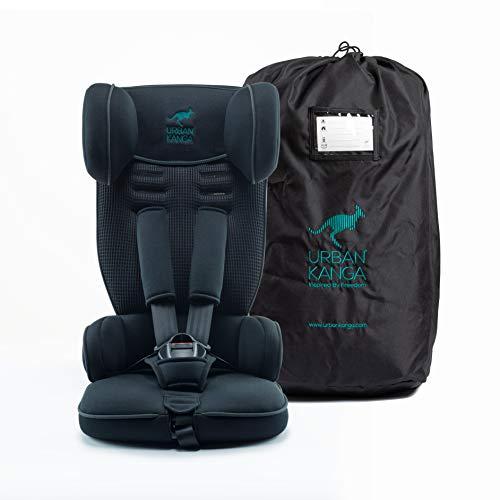 Urban Kanga Kindersitz Autositz Reise Tragbar und Faltbarer Gruppe 1, 9–18 kg (Uptown TV107) (Schwarz)