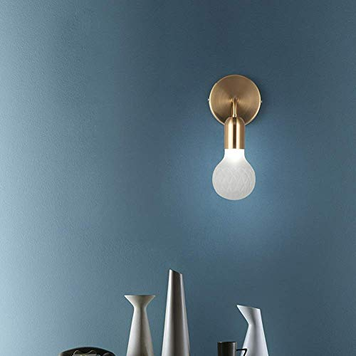 Mkjbd Wandlaterne Gartenlampe Wandleuchte Pendelleuchte Wandleuchte Wandleuchte Moderne Glaskugellampen Wohnlampen Nachttischlampen Treppenhausganglampen Wandlampen Warm, MM