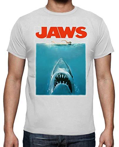 Camiseta de Hombre Varios Peliculas Tiburon PELICULA Terror Retro Hispter Swag Jaws M
