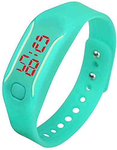 JZDH Mano Reloj Reloj de Pulsera Reloj Digital Mujer Watchesno para Mujer Mens Silicone LED Reloj Fecha Pulsera Deportiva Reloj de Pulsera Digital Relojes Decorativos Casuales (Color : Sky Blue)