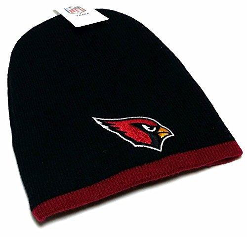 Reebok Arizona Cardinals New Uncuffed Knit Black Red Era Skully Beanie Toque Hat Cap