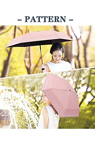 日傘完全遮光軽量コンパクト晴雨兼用uvカット100遮熱折りたたみ傘メンズレディース子供用紫外線遮断超撥水高強度グラスファイバー携帯便利おりたたみ傘小学生おしゃれ傘カバー付き