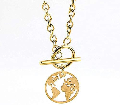 ZJJLWL Co.,ltd Necklace Steel Necklace Card Padlock Women Choker Long Necklace Gold Color Heart Necklace Collares Boho Gift