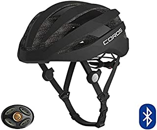 COROS SafeSound Road Smart Cycling Helmet with Ear Opening Sound System SOS Emergency Alert LED Tail Light| Bluetooth Connection for Music and Phone Calls| Lightweight