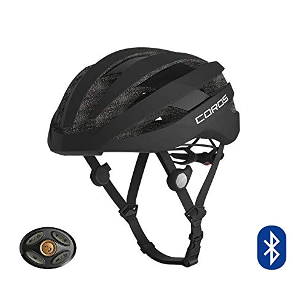 Coros SafeSound Road Smart Cycling Helmet with Ear Opening Sound System, SOS Emergency Alert, and LED Tail Light   Bluetooth for Music and Phone Calls   Smart Remote   Lightweight