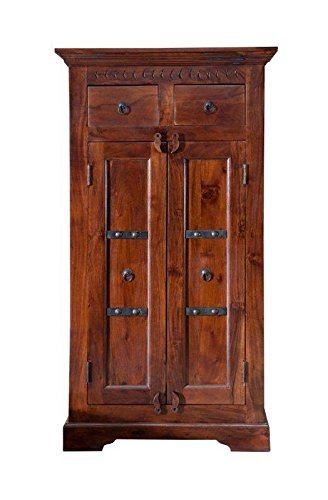 MASSIVMOEBEL24.DE Kolonialart Schrank Akazie massiv Möbel Oxford #525