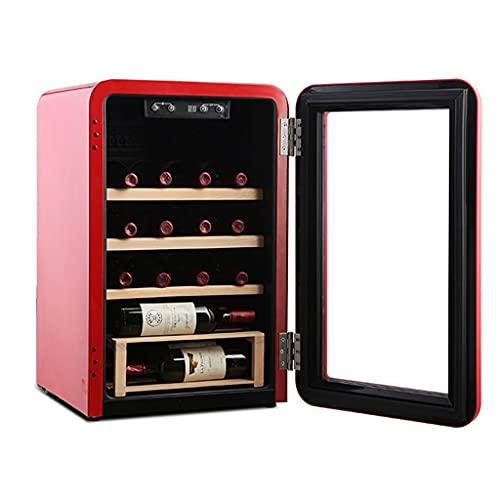 HYXSHOP Enfriador De Vino De Oficina Mini Enfriador De Vino De Temperatura Y Humedad Constantes para El Hogar Enfriador De Vino Retro 20 Capacidad Refrigerador para Almacenamiento De Vino