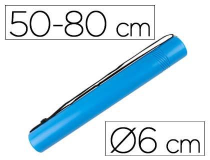 Portaplanos plástico Ø 6cm Extensible 50-80cm Azul