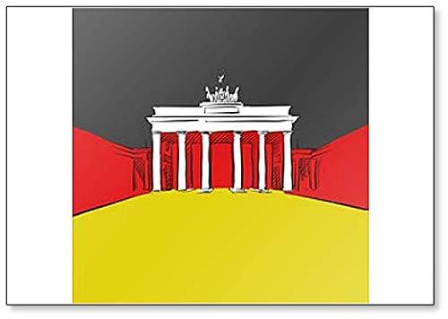 Deutschland Flagge Mit Brandenburger Kühlschrankmagnet
