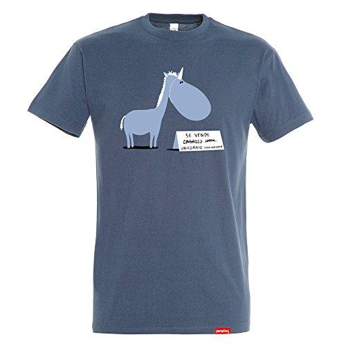 Pampling T-Shirt Se Vende - Unicorno - Battuta - Cotone 100% - Serigrafia di Alta Qualità.