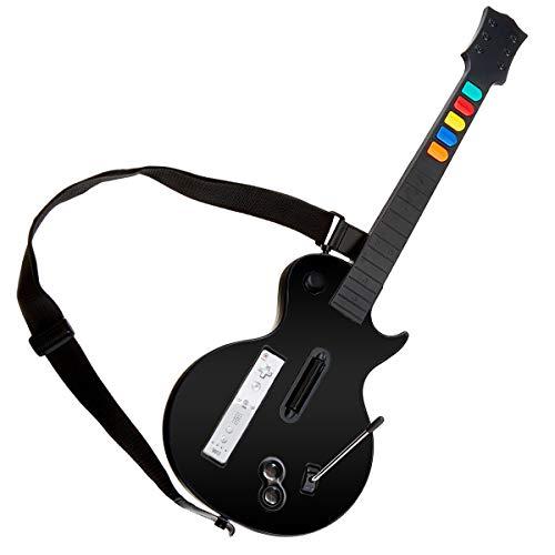 Guitarra Wii Negra, DOYO Controlador de Guitarra Wii desmontable, Nintendo Wii Guitar Hero y Rock Band Game para Guitarra Inalámbrica