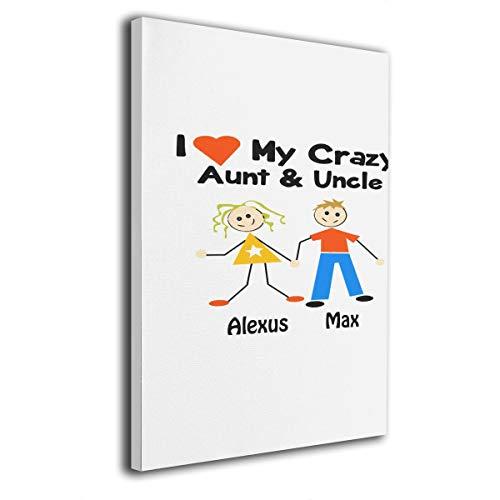 Paint C Wandbild, mit Aufschrift I Love My Crazy Aunt and Oncle, 20,3 x 30,5 cm
