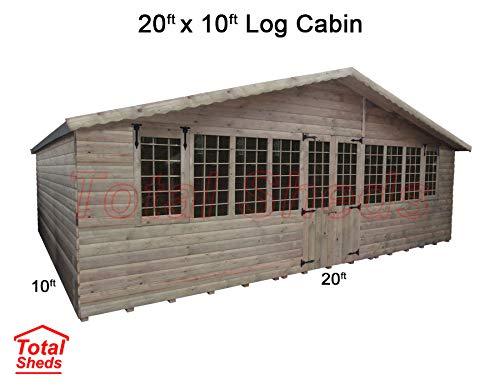 Total Sheds 20ft (6m) x 10ft (3m) Summer House Log Cabin Ultimate Cabin