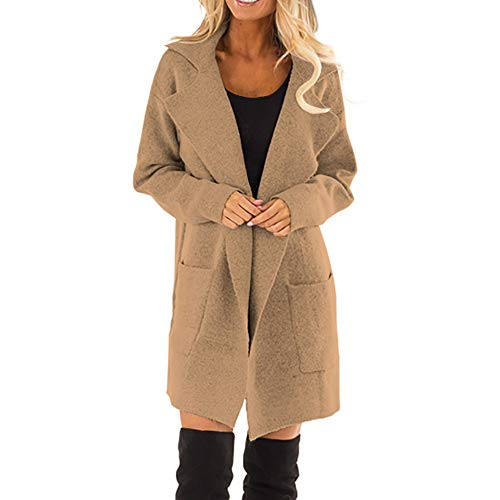 Damen Mantel Wollmantel Knielang Wintermantel Einfarbig Trenchcoat Langmantel Winter Frauen Wolle...