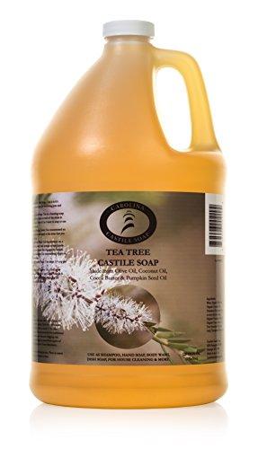 Carolina Castile Soap Tea Tree w/Organic Cocoa Butter & Organic Olive Oil- 1 Gallon