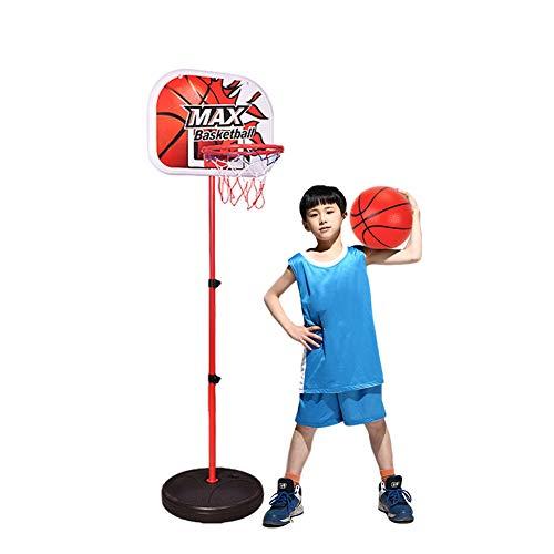 WYZDQ Junior Einstellbare Höhe Basketballkorb, Freistehende tragbare Basketball-Standplatz-Set mit Kugel für Kinder Sport (120-160cm)