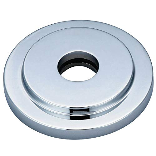 Kingston Brass FLEURO1 Nuvofusion Heavy Duty Round Solid Cast Brass Shower Flange, Polished Chrome