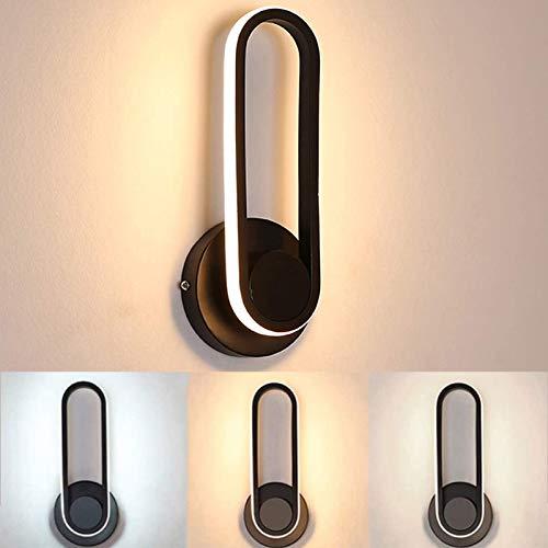 Lámpara de Pared LED 12W, 330 ° Giratorio Luz de Pared Regulable , Iluminación de Diseño Moderno Utilizada en Pasillos Dormitorios Salas de Estar Comedores Salas de Estudio Cafeterías.