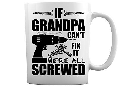 White Ceramic Grandfather Coffee Mug