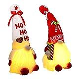 TSLBW Bambola Gnomo di Natale 2 Pezzi Gnomi di Natale Bambola di Babbo Natale Gnomo di Natale Svedese Natale Gnomo Seduto Bambola di Peluche con Figura Giocattolo di Natale GNOME di Babbo Natale