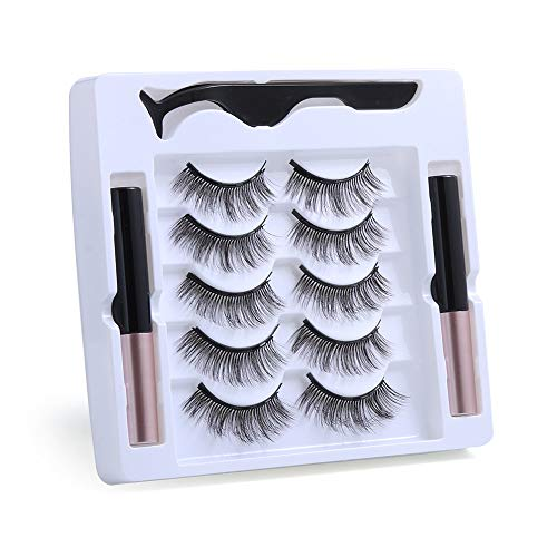UNICK Hot Sale Long-lasting Waterproof Handmade Natural Long With Tweezer Magnetic Eyeliner Lash Extension Magnetic Eyelashes(Y-24) 1