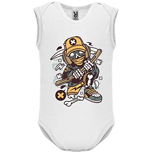 LookMyKase Body bébé - Manche sans - Hip Reaper - Bébé Garçon - Blanc - 3MOIS