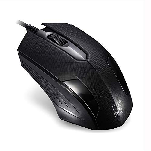 MDYHMC DLT AYSMG ZGB 129 USB Universal Wired Optical Gaming Mouse with Counter Weight, Length: 1.3m(Black) (Color : Black)