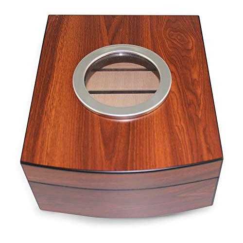 Egoist 3190Cansiglio Humidor aus Holz mit Fenster rund
