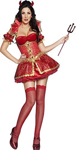 Smiffy's - Disfraz de diablesa sexy para mujer ideal para Halloween