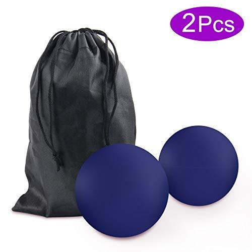 Massageball Set, JEVDES Lacrosse Ball Massage für Alle Muskelgruppen und Kleine Schwer Erreichbare Triggerpunkte, Trigger Point Therapie Massage Balls für Selbst-Massage Faszien(2 Pcs Blau)