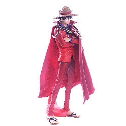 QWRT Colección Anime One Piece Koa Capa Roja Luffy Figura De Acción Modelo 25Cm Estatua De PVC Juguetes para Niños Decoración De Escritorio Figma