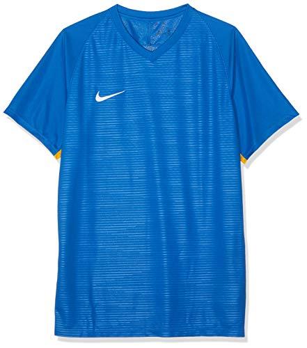NIKE M NK Dry Tiempo Prem JSY SS Camiseta de Manga Corta, Hombre, Royal Blue/Royal Blue/University Gold/White, L