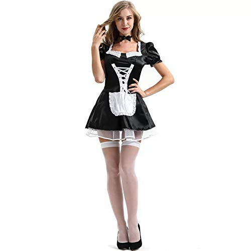 thematys Dienstmädchen French Maid Kostüm Damen - Hausmädchen Kostüm-Set perfekt für Fasching, Karneval & Cosplay - 3 Verschiedene Größen (XXL)