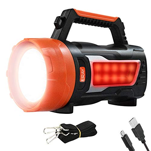Linterna LED Recargable, Linterna LED Alta Potencia, Generación de Energía Manual, Indicator de Batería, Impermeable IPX4, Súper Brillante, Gran Alcance de 800m, Ideal para Camping, Ciclismo, Pesca
