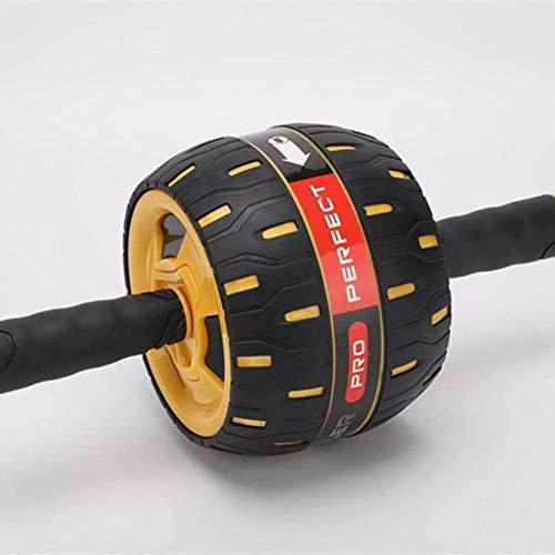 Bauchrad Ab Roller Wheel, Abdominale Trainer, Bodyshaper, Automatische Rebound, slijtvast en stil Modern design Geel
