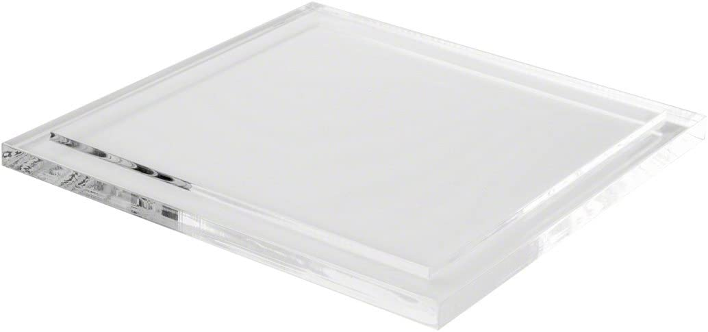 Max 61% OFF Plymor Clear Acrylic Now free shipping Base Square for Case Display