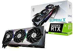 MSI GeForce RTX 3080 Suprim X 10GB GDDR6X Gaming Grafikkarte 3xDP/HDMI