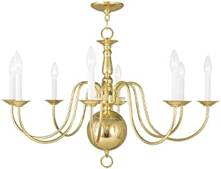 Livex Lighting 5007-02 Williamsburg 8-Light Chandelier, Polished Brass