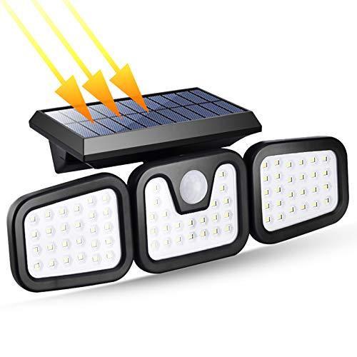 Keyzone 74 - Lámparas solares LED resistentes al agua con sensor de movimiento 360° para jardín, exteriores e iluminación solar IP65