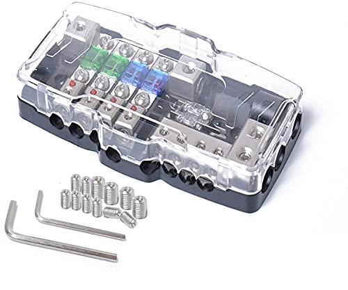Camper KFZ Verteilerblock Sicherungshalter Autobatterie Stromverteiler Mini ANL Sicherungskasten 0/4ga Rote LED Anzeige 30A 60A 80A Sicherung Sicherungsverteiler