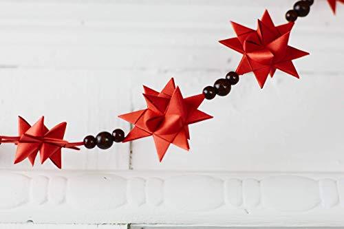 Sterngirlande, Baumkette Fröbelsterne, Christbaumkette, Hängedekoration, Weihnachtsdekoration, Fensterkette, Geschenk Erzieher, Lehrergeschenk