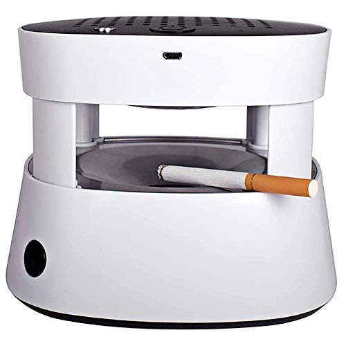 ZWR Purificador de Aire para Cenicero, Cenicero Sin Humo Recargable por USB, Filtro de Cigarrillos con Iones Negativos Y FuncióN de Encendedor de Cigarrillos