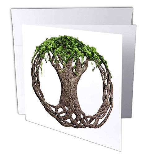 3dRose Macdonald Creative Studios – Celtic - A Tree of Life Symbol, a Popular Irish and Celtic Symbol. - 1 Greeting Card with Envelope (gc_295361_5)