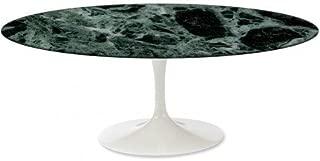 Oval Tulip Table (Saarinen) 78x48 inch (78,35x47,64) - Green Alps Marble - Made in Italy