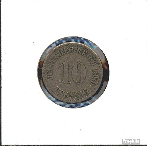Deutsches Reich Jägernr: 4 1875 J schön Kupfer-Nickel 1875 10 Pfennig Kleiner Reichsadler (Münzen für Sammler)