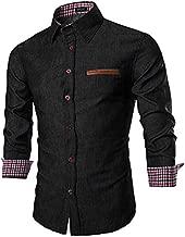 COOFANDY Men's Casual Dress Shirt Button Down Shirt Long-Sleeve Denim Work Shirts